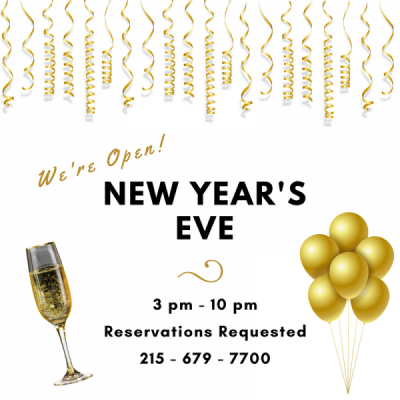 New Year's Eve at the Carriage House Restaurant