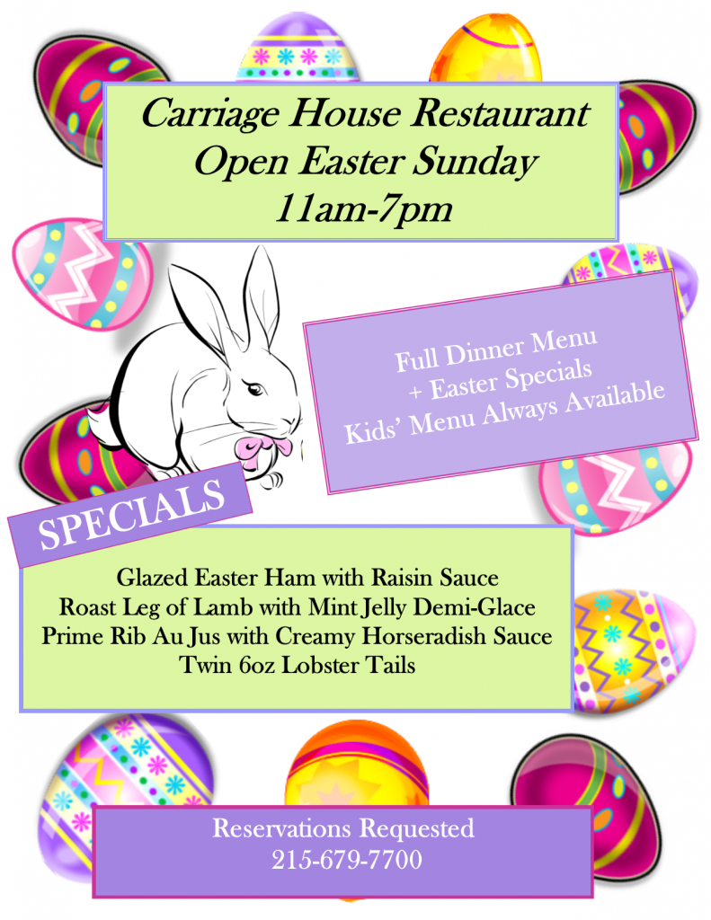 Easter Sunday Carriage House Restaurant